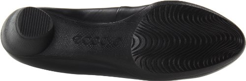 Ecco Sculptured 45 Black Dress - Zapatos destalonados de cuero mujer BLACK1001