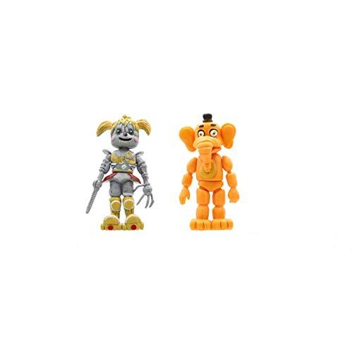 Amazon.com: HOLLUK Dy Chica Bonnie Foxy Action Figures Toys ...