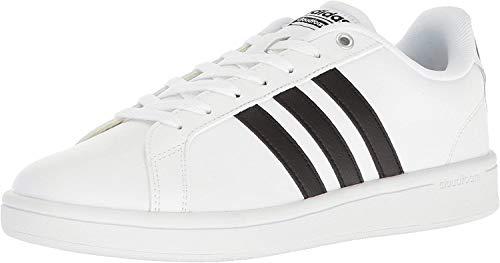 adidas Men's Cloudfoam Advantage Sneakers, White/Black/White, (12 M US)