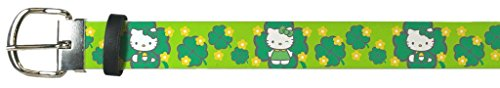 Hello-Kitty-Animated-Character-Irish-Shamrock-Kitty-Leather-Belt