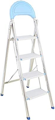 Multifuncional De metal de cuatro pasos de escalera, Oficina/empresa Escalera Portátil herramienta de tijera Las escaleras de mano de construcción Capacidad de carga: 150 Kg estable: Amazon.es: Bricolaje y herramientas
