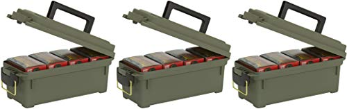 Plano Shot Shell Box, OD Green 3 Pack