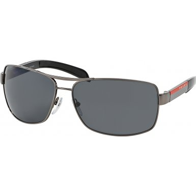 Prada Sport PS54IS Sunglass-5AV/5Z1 Gunmetal (Polar Gray - Sunglasses Mens Sport Prada