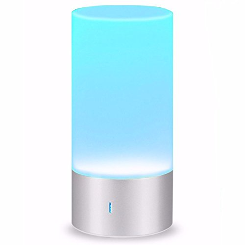LED Bedside Lamp,ELEGIANT Smart Touch Table Lamp with Bluetooth Speaker,LED Colour Changing Mood Lamp Support Warm White Light & Dimmable RGB Color Change for Home Party Wedding