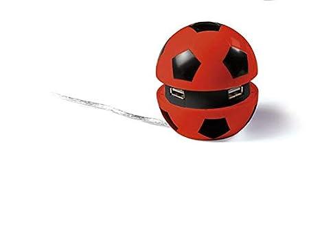 Junior star Pelota Fútbol Multi Hub USB-Forza Milan, Rojo y Negro ...