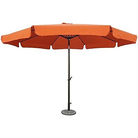 International Caravan St Kitts 11 5 Ft Aluminum Patio Umbrella With Crank