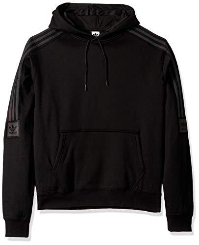 adidas Originals Men's Skate Tech Hooded Sweatshirt, Black/Carbon, Large ()