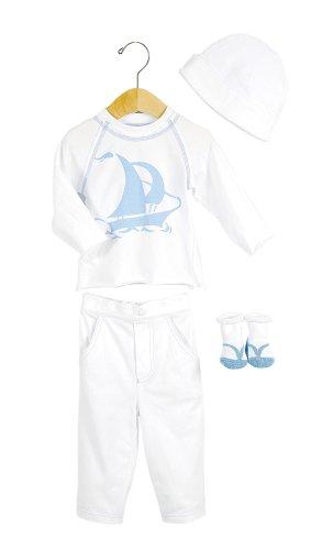 Elegant Baby Tropical Fashion Set- 12 mos- Sailboat