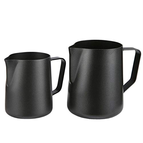 Non-Stick Stainless Steel Pitcher Milk Frothing Jug Espresso Coffee Pitcher Barista Craft Coffee Latte Milk Jug Pitcher 1000ml ()