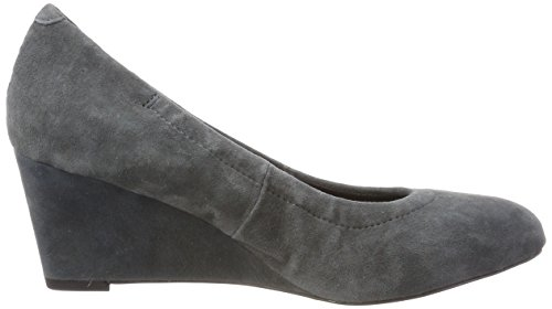 Vionic Womens Lux Camden Leather Shoes Grau (Dunkelgrau)