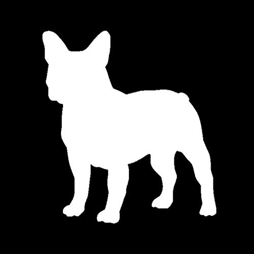 11.512.8CM French Bulldog Personality Decal Sticker Car Styling Fashion Animal Decorative Stickers Sliver/Black C4-0079