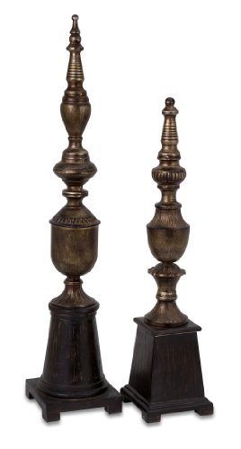 Decorative Table Desktop Finials Accent - Set of 2 by IMWorldwide