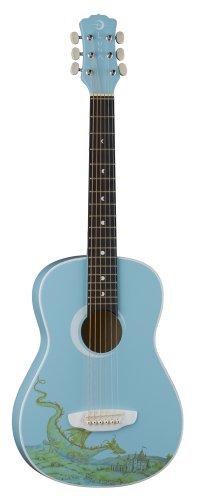 "Luna Aurora Series 3/4-Size Mini Dreadnought Acoustic Guitar - ""Dragon"" Cool Blue"