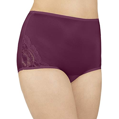 Vanity Fair Women's Perfectly Yours Lace Nouveau Brief Panty 13001, Chilled Wine, Large/7 ()