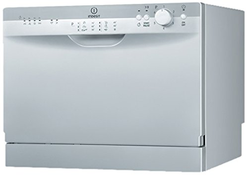 Indesit ICD 661 S EU Tischgeschirrspüler / A / 187 kWh/Jahr / 6 MGD / 2492 Liter/Jahr / 6 Programme / silber