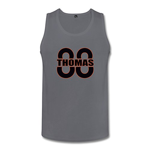 Handson Men's Demaryius Football Player Thomas Number Funniest Tank Top Tank Size XXL Deep Heather