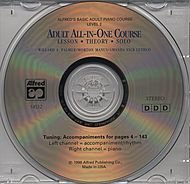 Alfred's Basic Adult All-in-One Course CD for Level 2 (Alfred's Basic Adult Piano Course, Level 2)
