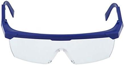Seguridad en el trabajo Gafas protectoras para los ojos Gafas de laboratorio Pintura contra el polvo Dental Industrial Anti-Splash Gafas a prueba de polvo contra el viento Azul