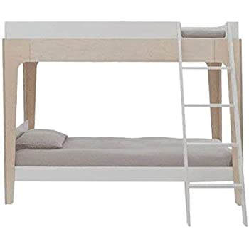Amazon Com Oeuf Perch Twin Size Bunk Bed White Birch