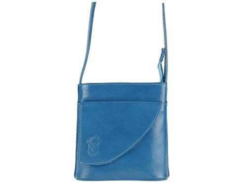 scarlet bijoux - Bolso cruzados de Piel para mujer one size Azul - azul