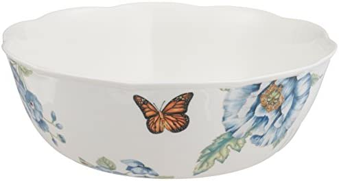 Porcelain Lenox 880121 Butterfly Meadow All Purpose Bowls Multicolor Set of 4