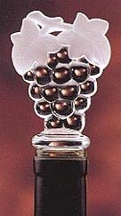 (Clear Acrylic Grapes Wine Bottle Stopper)