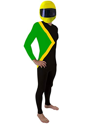 Morphsuits Men's Jamaican Fancy Dress Costume-Size 165 to 180cm, Black/Green/Yellow, Standard Size