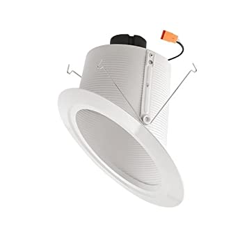 Elco lighting el76330w 6 super sloped ceiling led baffle inserts elco lighting el76330w 6quot super sloped ceiling led baffle inserts mozeypictures Image collections