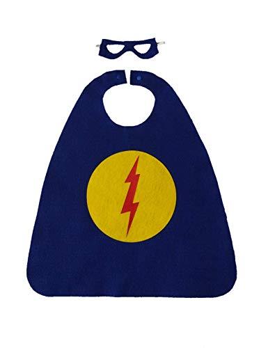 Superhero Costume Set (blue with circle/lightning bolt) -