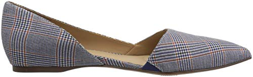 Flat Naturalizer Pointed Toe Samantha Blue Women's Plaid qwIrwa