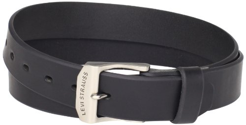 - Levi's Men's 100% Leather Belt  with Prong Buckle, Black, 46