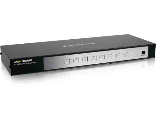 IOGEAR 8-Port HD Audio/Video Switch with RS-232 Support (GHSW8181), Best Gadgets