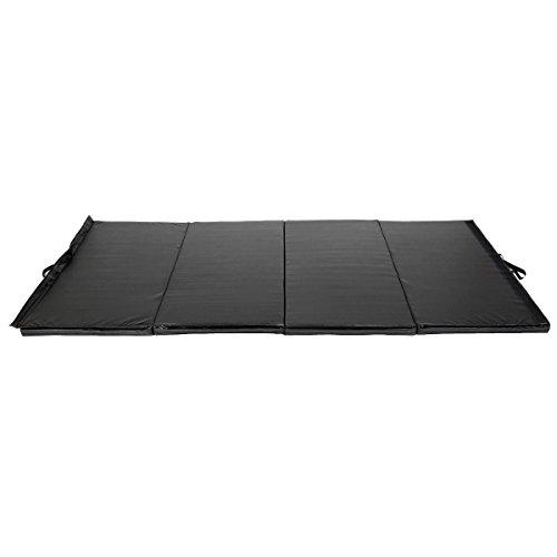 New Black 4'x8'x2'' Thick Folding Panel Gymnastics Mat Gym Fitness Exercise Mat by Yoga Mats (Image #2)