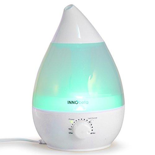 InnoBeta® 2,4 Liter Ultraschall-Luftbefeuchter Cool Mist mit Filter, Aromaverteiler - Die ganze Nacht hindurch, Leise, AutomatischeAusschaltung,langlebig, 7-farbige LED-Lichter