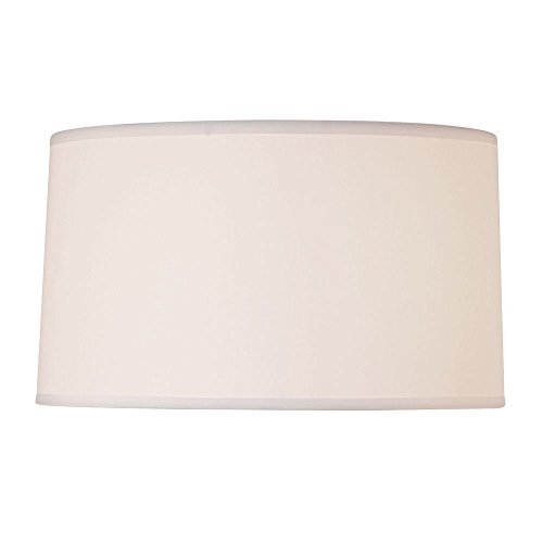 White Linen Drum Lamp Shade with Spider Assembly