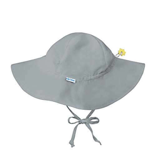 i play. by green sprouts Baby Solid Brim Sun Protection Hat, Gray, 0/6mo
