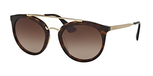Prada Women's 0PR 23SS Havana/Brown Gradient One - Aviator Prada Sunglasses