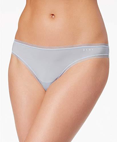 - DKNY Womens Low-Rise Mesh Trim Thong Panty Blue L