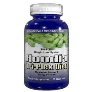 Hoodia Gordonii Tri Plex Diet Weight Loss Metabolism Boosting Supplement - 60 Capsules