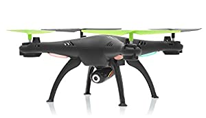 Hero RC XQ6 4 Ch 6-Axis Headless RC Quadcopter Drone RTF 2.4Ghz w/ HD Camera + 3 Batteries + 2 Set Blade + 4GB Memory Card (Black) from Hero RC