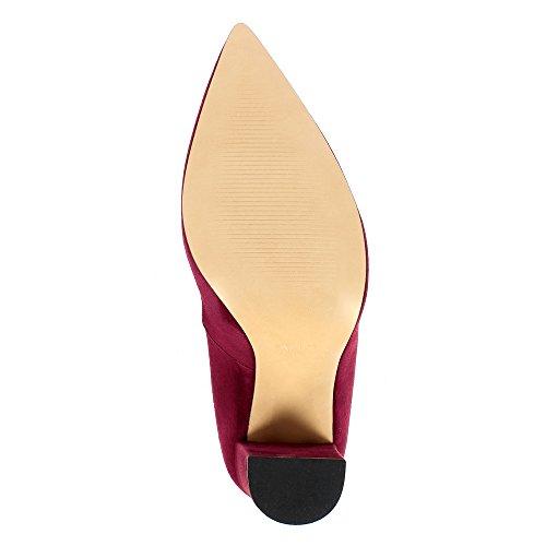 Daim Alina Bordeaux Escarpins Shoes Evita Femme U5wOIwq