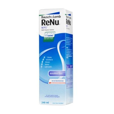 Jumbo pack of 4 x 240ml Bausch & Lomb ReNu MPS Multi-Purpose Contact Lens...