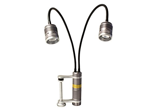 Gooseneck Dual Lights (Aven 26534 Dual Gooseneck LED Task Light with Magnetic Base and 4″ Table Clamp)
