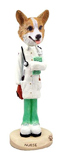 Welsh Corgi Pembroke Nurse Doogie Collectable Figurine (Welsh Corgi Figurine)