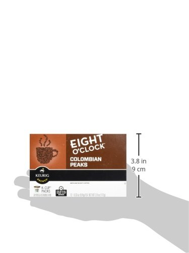 Eight O'Clock Coffee Colombian Peaks Keurig K-Cups Coffee, 12 Count