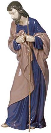 NAO Saint Joseph. Porcelain Saint Joseph Figure.
