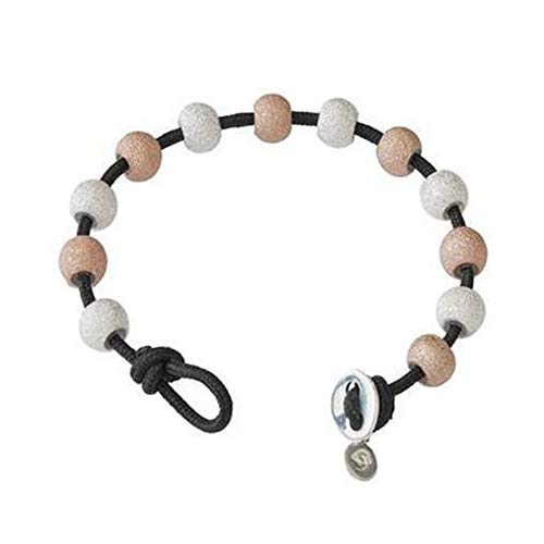 - Golf Goddess Stroke/Score Counter Cord Bracelet - Black with Silver and Rose Gold