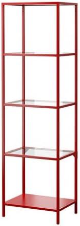 IKEA VITTSJOO, estantería, cristal.