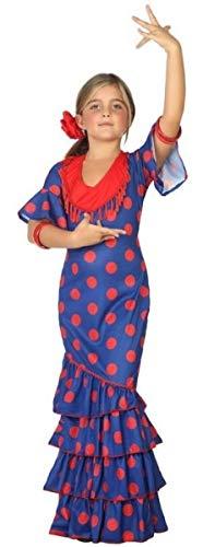 Girls Blue Spanish Flamenco Dancer Around the World Fancy Dress Costume Outfit 3-12 years (7-9 years) -