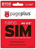 Image of Page Plus 4G LTE Sim Nano Sim for IPHONE 5,5c,5S, 6 and 6 Plus